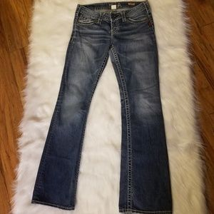 Silver Pioneer Boot Cut Jeans Size 28